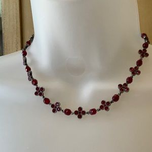 Jewelry - Deep Red Crystal Necklace